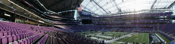 A panorama of US Bank Stadium