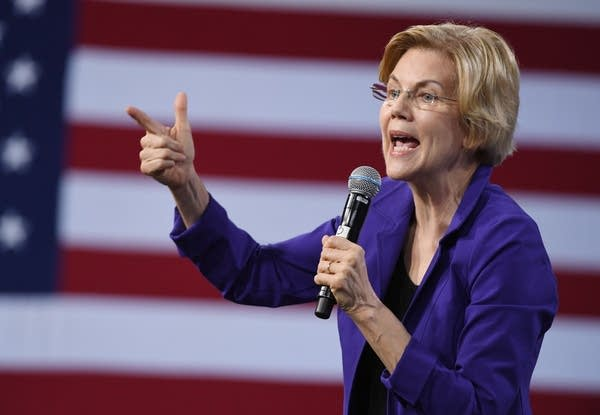 U.S. Sen. Elizabeth Warren speaks at a Las Vegas forum.