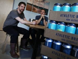 Athletic Brewing Co. co-founders Bill Shufelt, right, and John Walker.