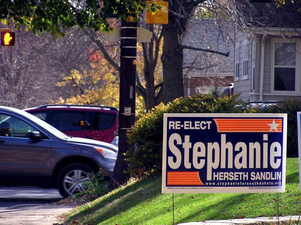 Rep. Stephanie Herseth Sandlin sign