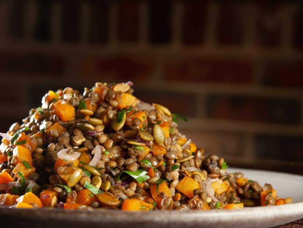 Spiced Lentil Salad with Butternut Squash