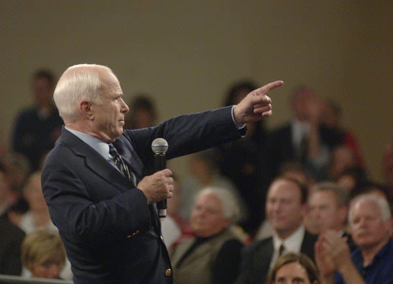 John McCain takes a question