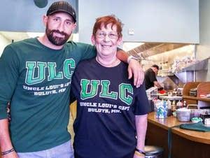 Uncle Loui's Cafe owner Debra Strop and her son Matt Berthiaume