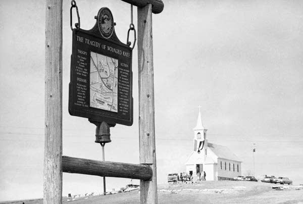 Sacred Heart Catholic Church in Wounded Knee, S.D.
