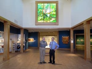 Docent Dave Marshall and director Andrew Maus