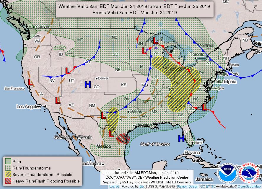 June 24 - fcst map