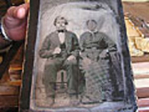 Tin print of Matts and Marte Olson