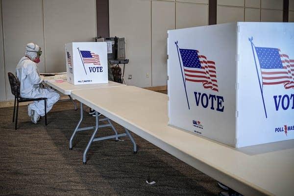 Wisconsin elections hazmat suit