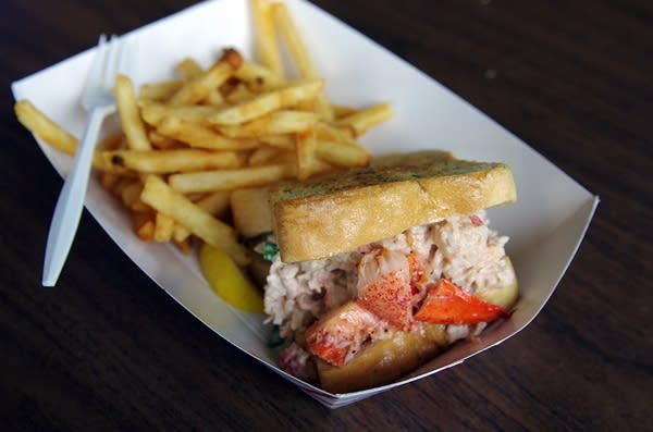 The Cafe Caribe's lobster roll