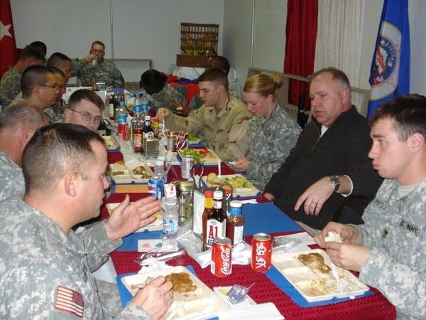 Rep. Walz eats with troops