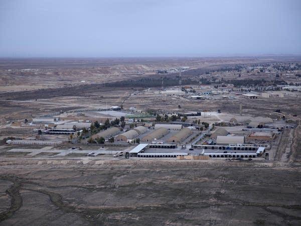 A view of a military air base