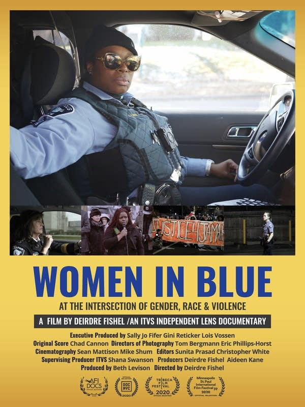 "Poster of a movie ""Women in Blue."""