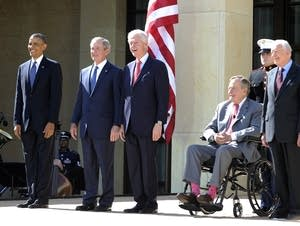 All five living ex-presidents.
