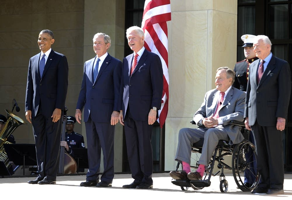 All five living presidents, past and present