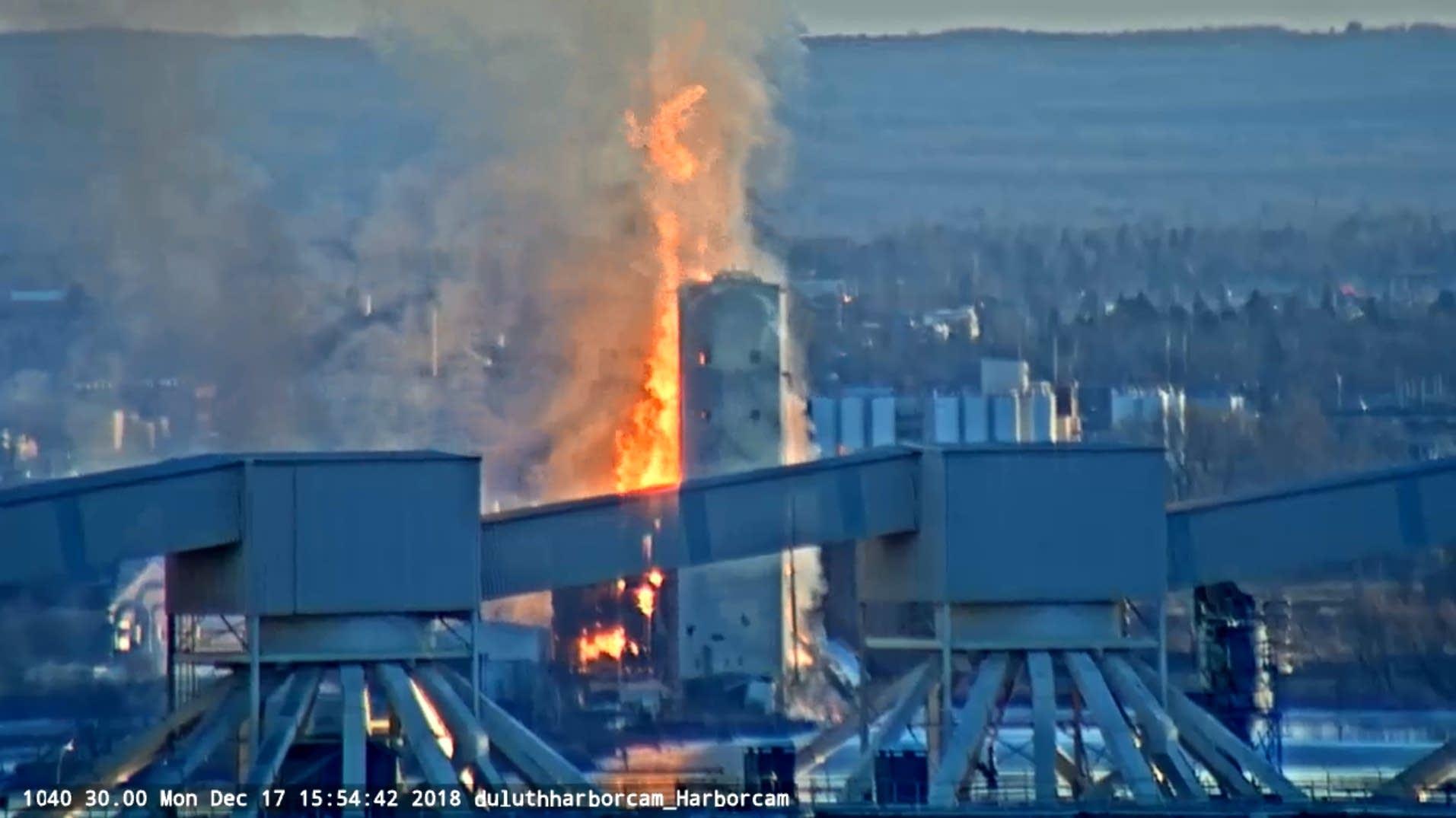 Grain elevator fire