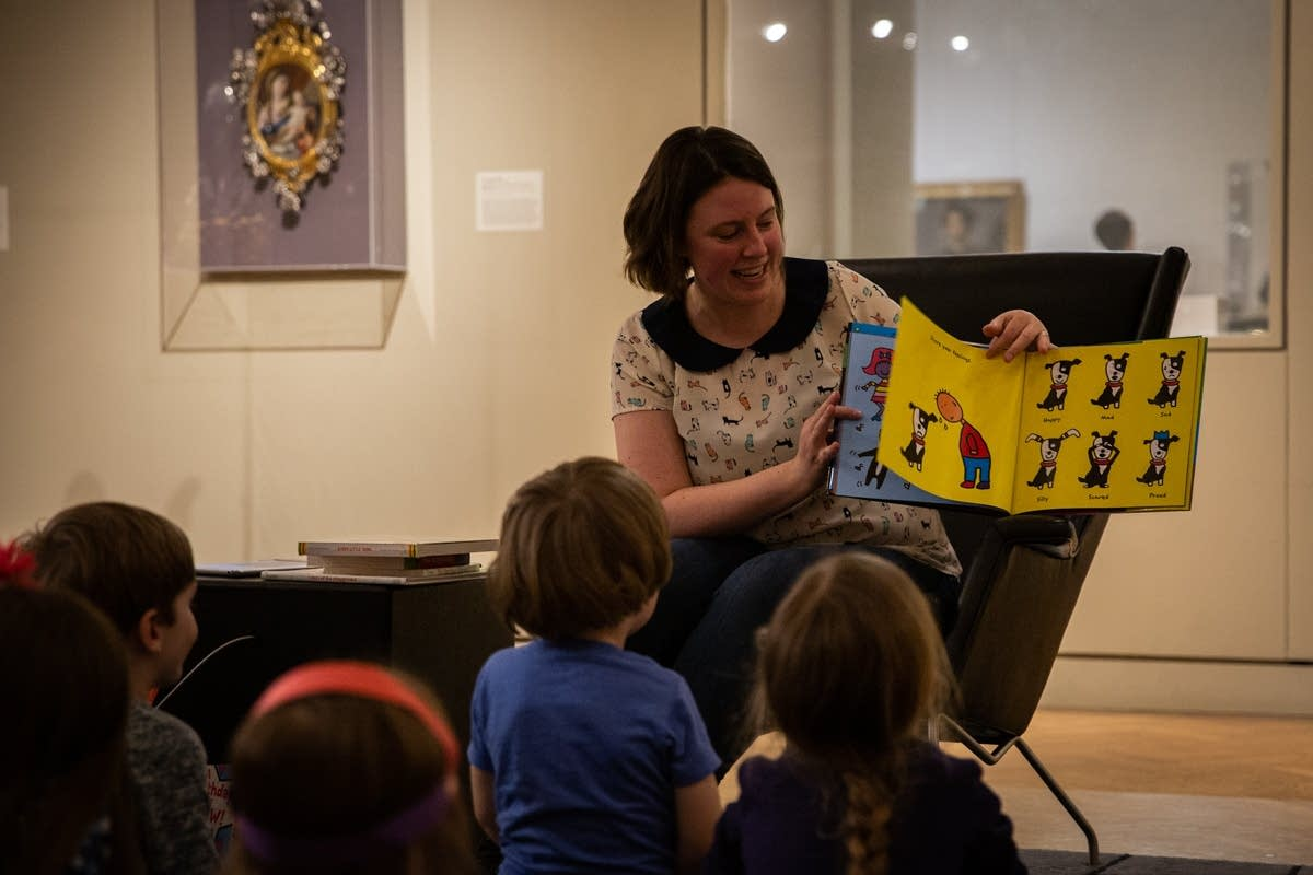 Andrea Swensson reads during Pop-Up Storytime at Rock the Cradle 2020.
