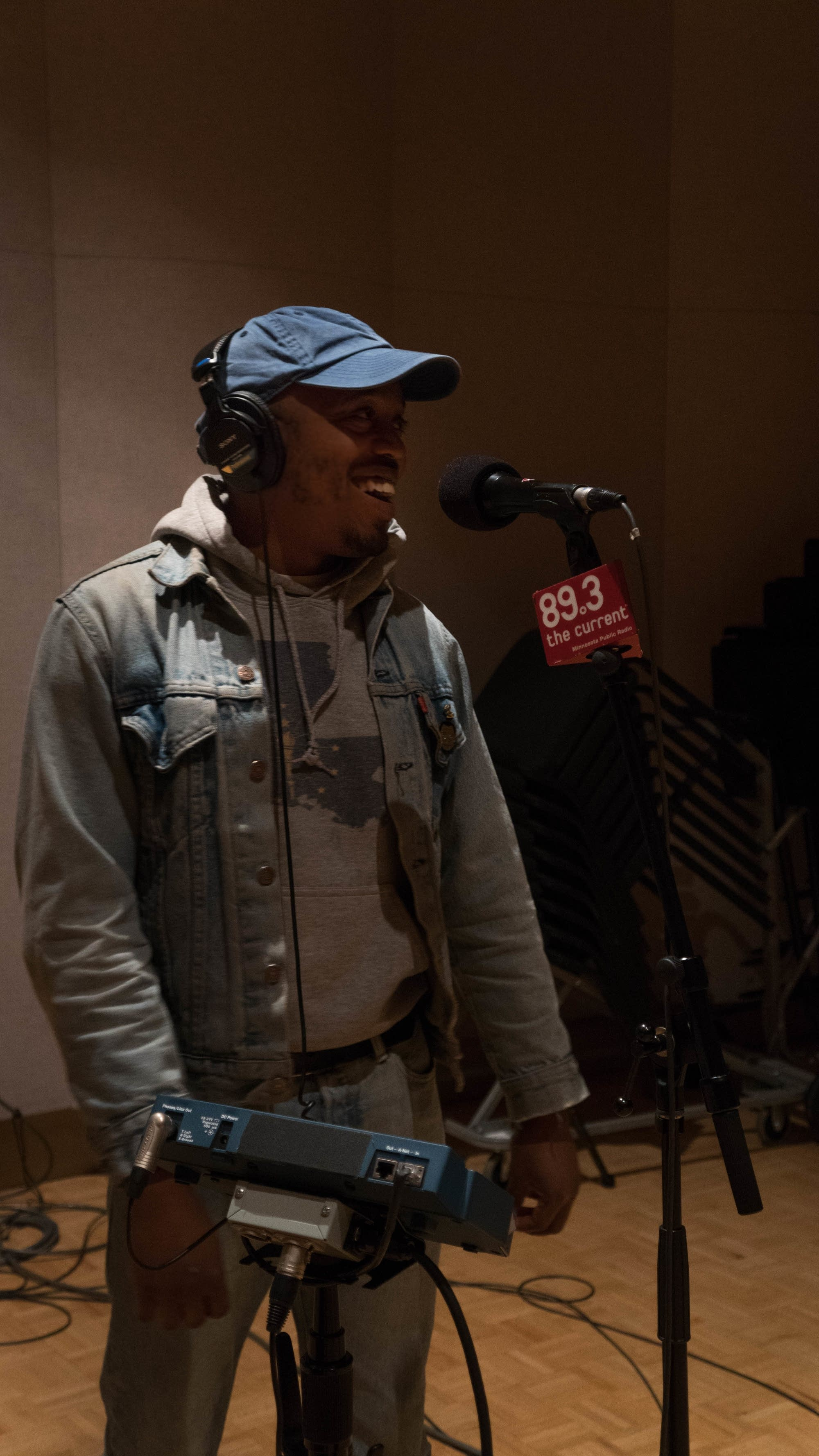 Durand Jones and the Indications in The Current studio