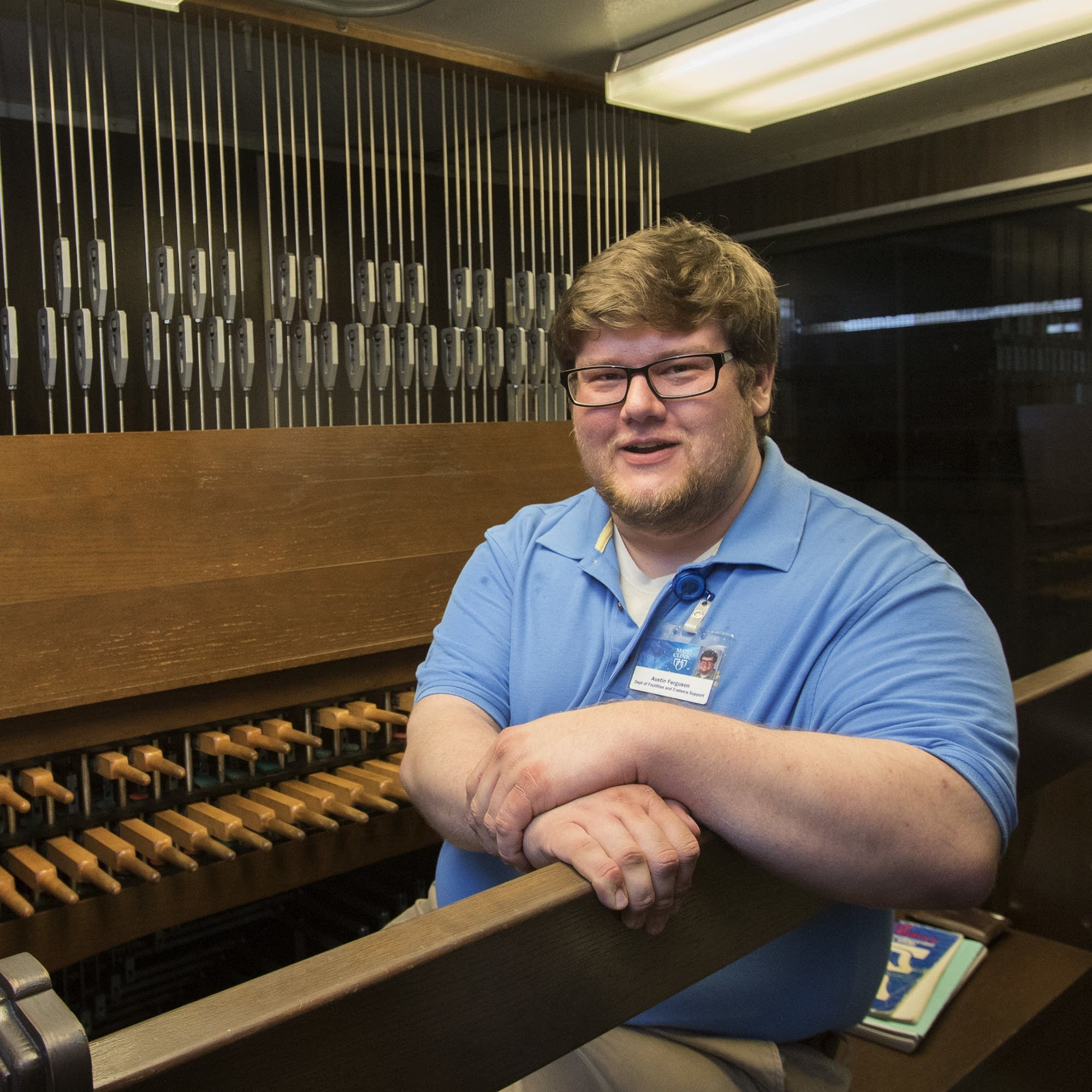 In a tower 300 feet above Rochester, a new carillonneur plays songs