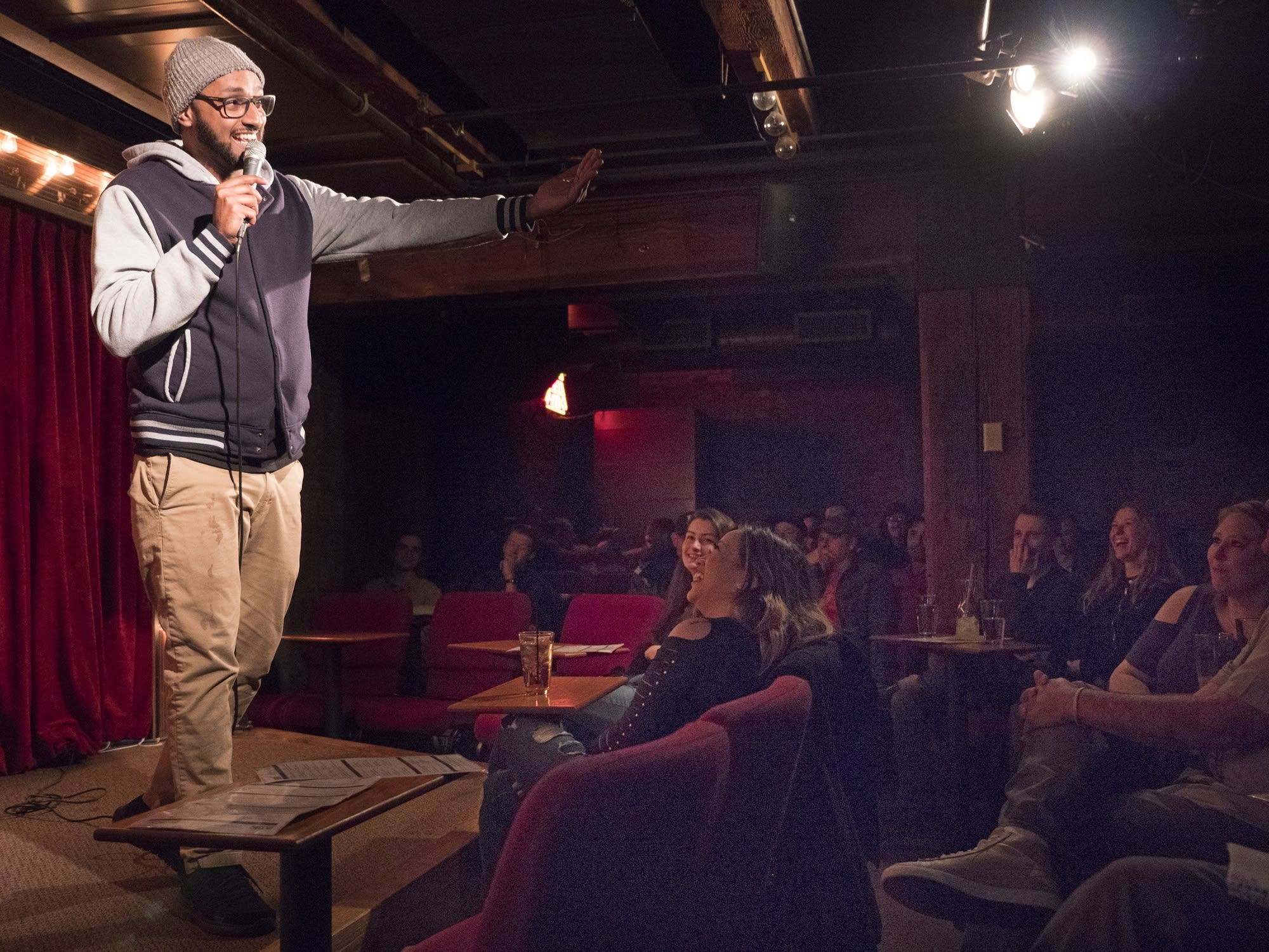 Ali Sultan's comedy act was a hit, keeping the crowd laughing constantly.