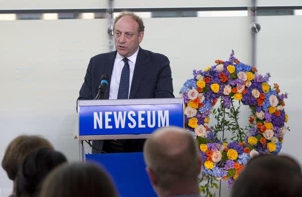 Michael Oreskes of NPR speaks in Washington in June 2017