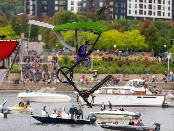 Red Bull Flugtag along the Mississippi River in St. Paul