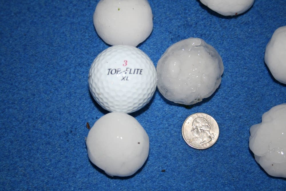 Hail in Chisago County