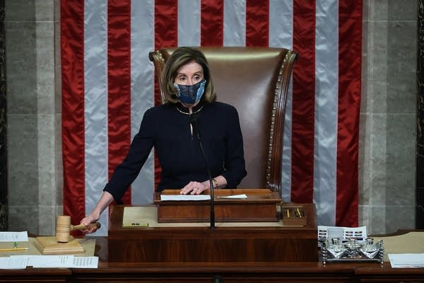 House Speaker Nancy Pelosi, D-Calif., raps her gavel