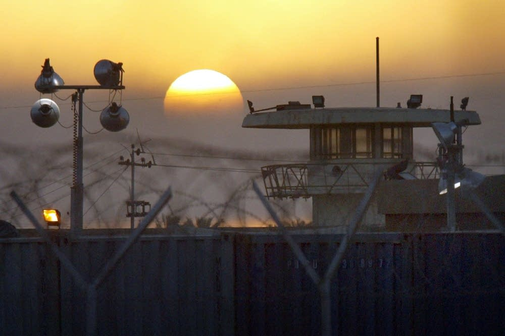 The sun rises on the Abu Ghraib prison