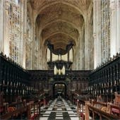 1968 Harrison at King's College Chapel, Cambridge, England