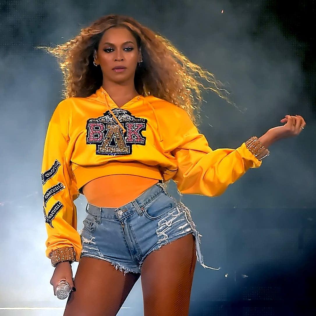 Beyonce performs at Coachella, April 2018.