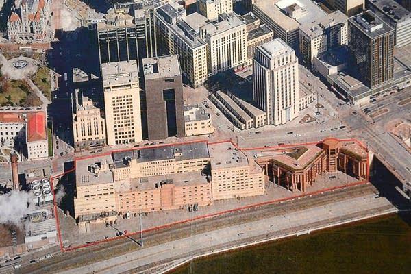 Aerial photo St. Paul riverfront