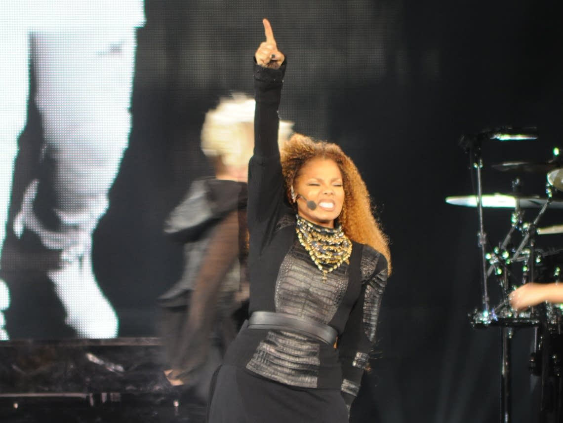 Janet Jackson performs at Target Center in 2015.