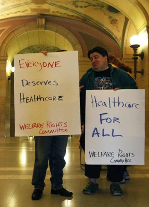 Healthcare protest, Tim Pawlenty