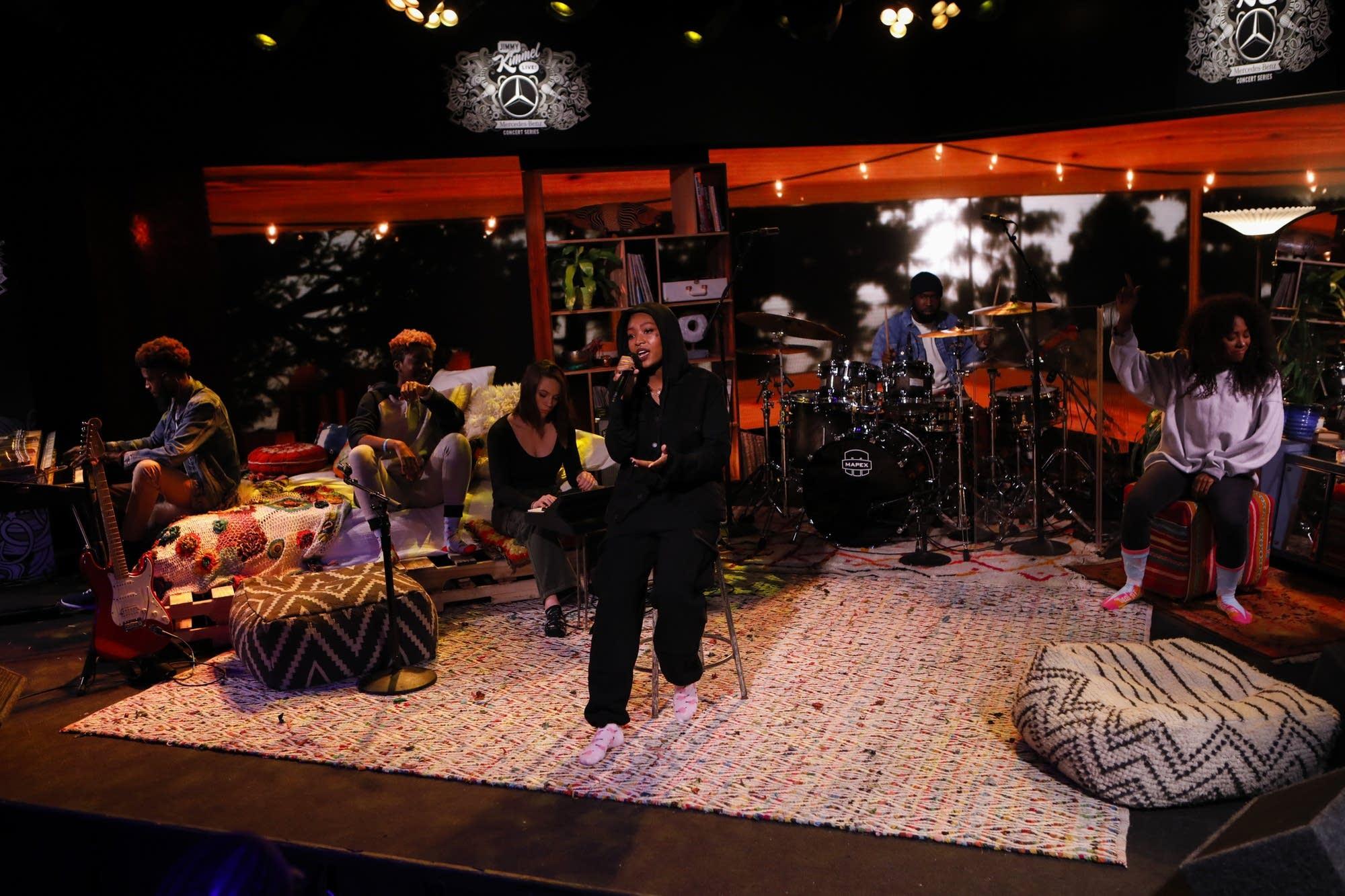 Summer Walker performs on 'Jimmy Kimmel Live!'