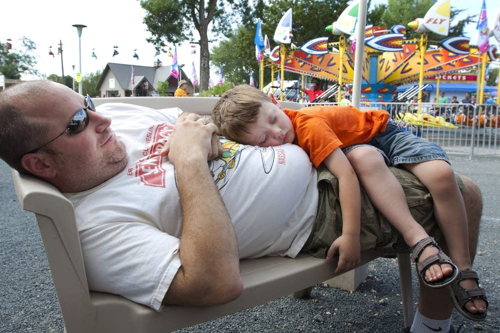 Asleep at the fair