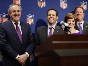 Zygi Wilf and Mark Wilf after Mpls. announcement.
