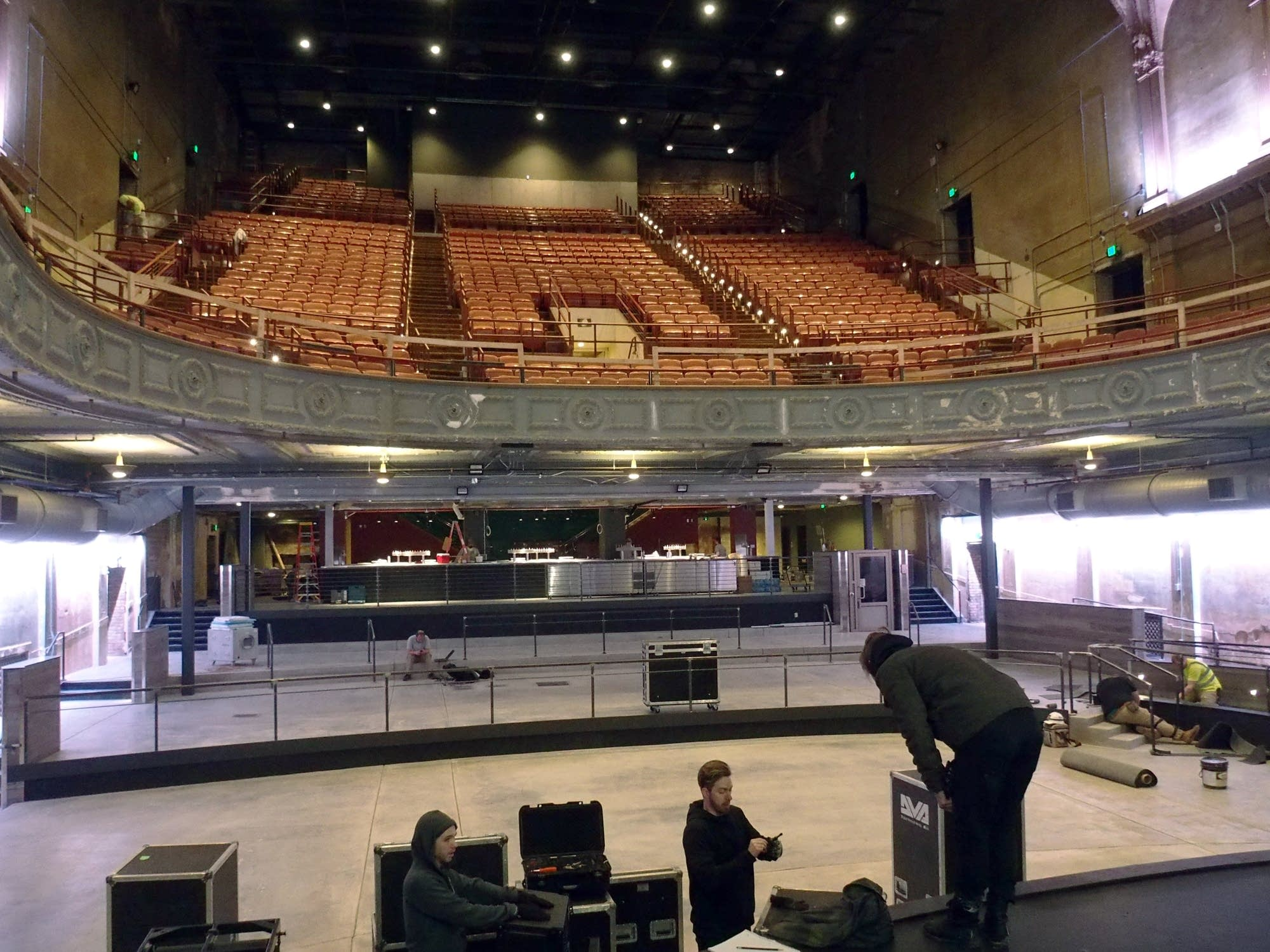 View from the stage of the newly revamped Palace Theatre