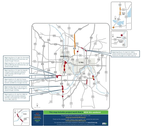 This weekend's traffic impacts.