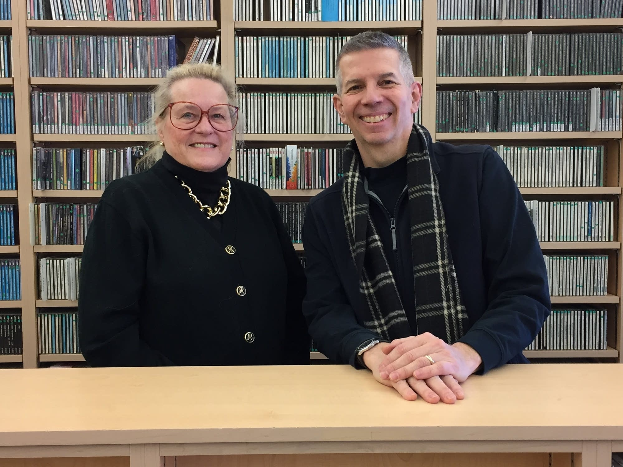 Arlys Whitaker and MPR's Steve Staruch