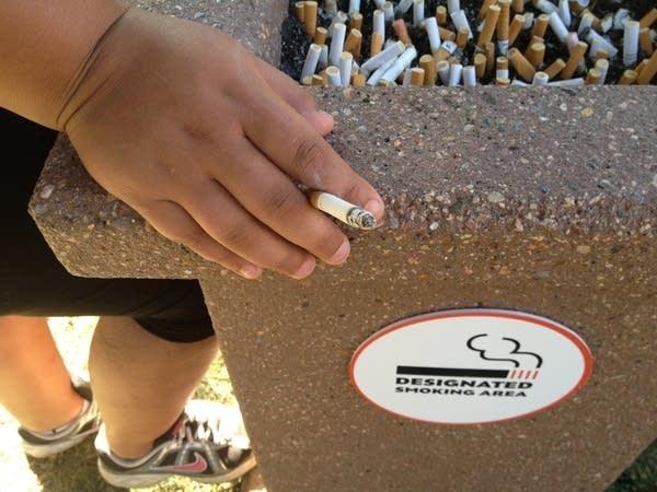 Smoking spot at the State Fair