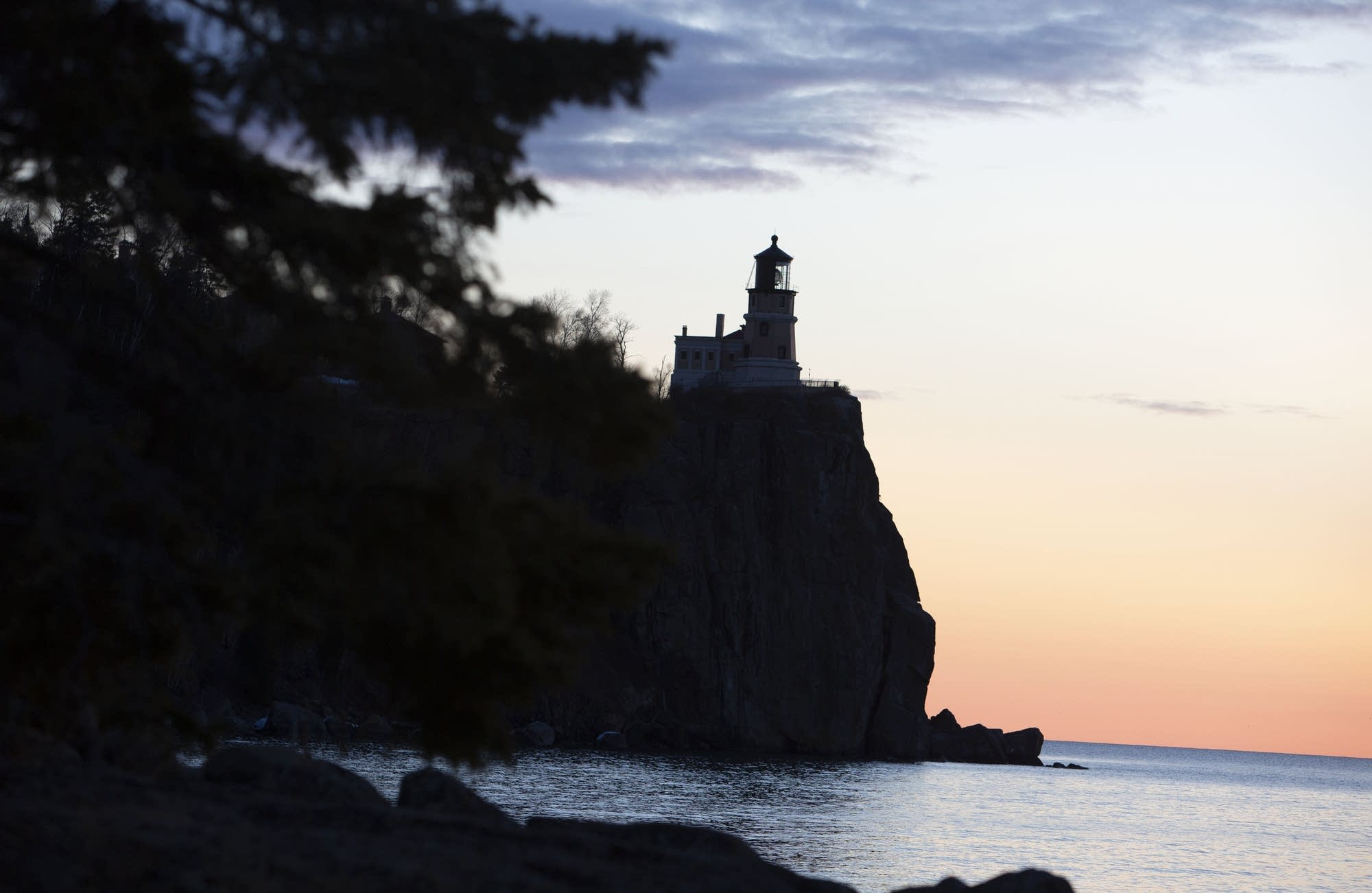Split Rock Lighthouse sits atop a 160-foot cliff.