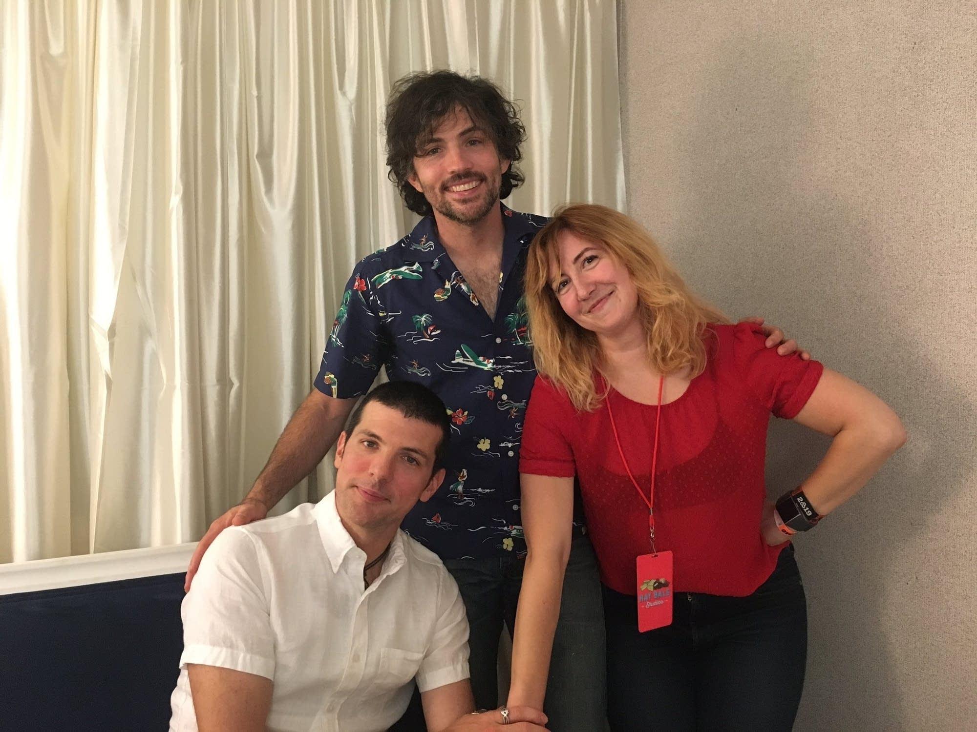 Jade with Seth and Scott Avett at Bonnaroo