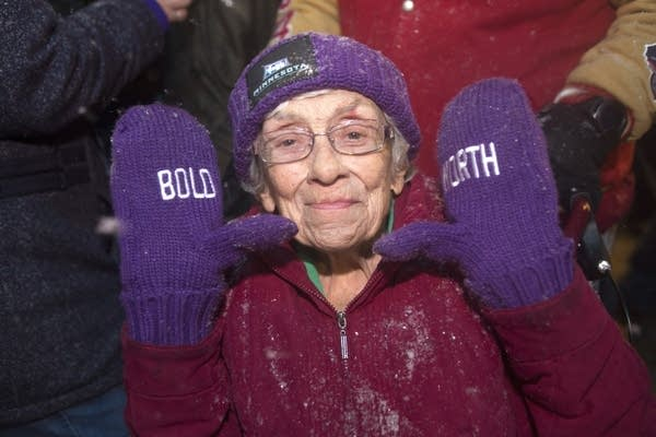 Bernice Cole, 94, was determined to come to the Super Bowl activities.
