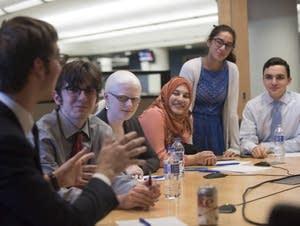 Members of St. Paul Academy's debate team