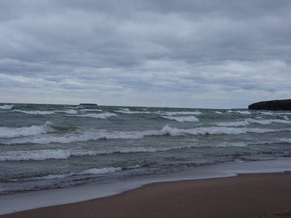 Lake Superior waves in the Apostle Islands.
