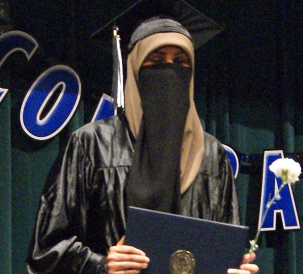 Yusra Ismail at her high school graduation in 2013