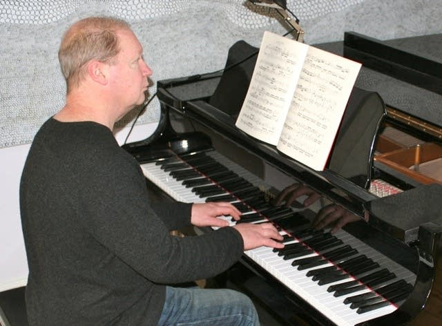 Composer John Lunn in studio