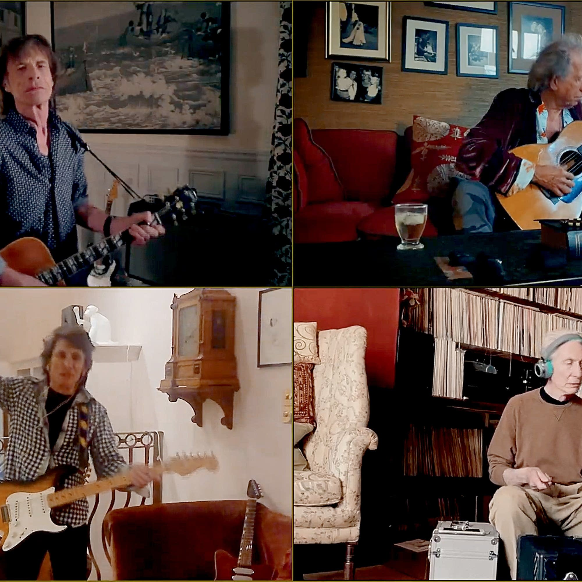 The Rolling Stones perform on the 'One World' livestream.
