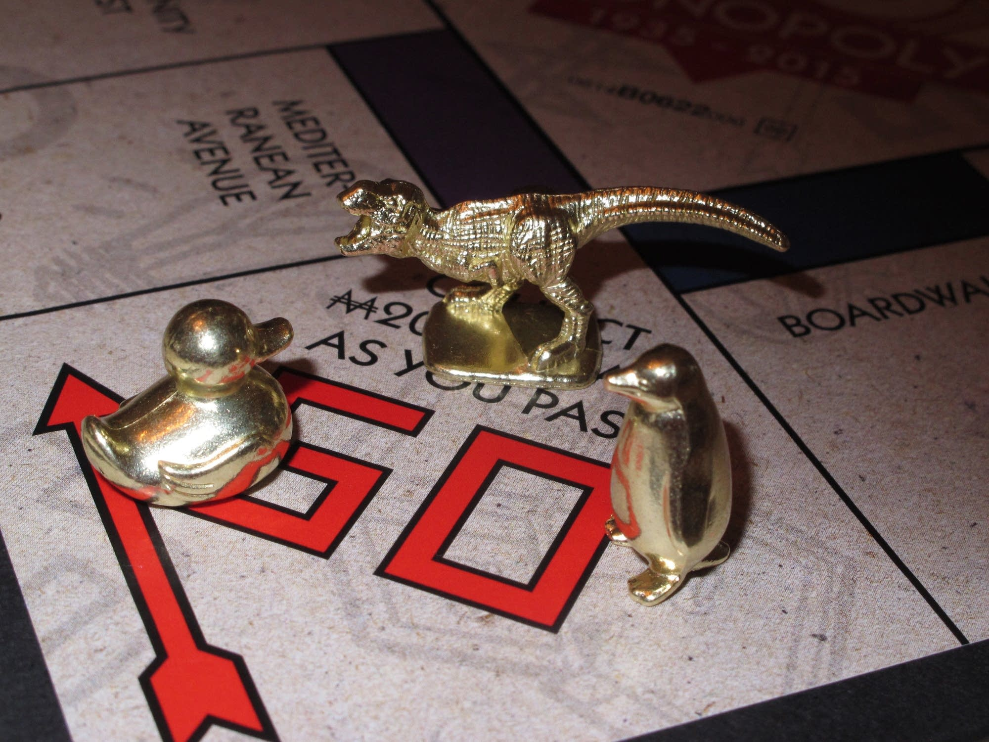 The three new tokens for the Monopoly board game