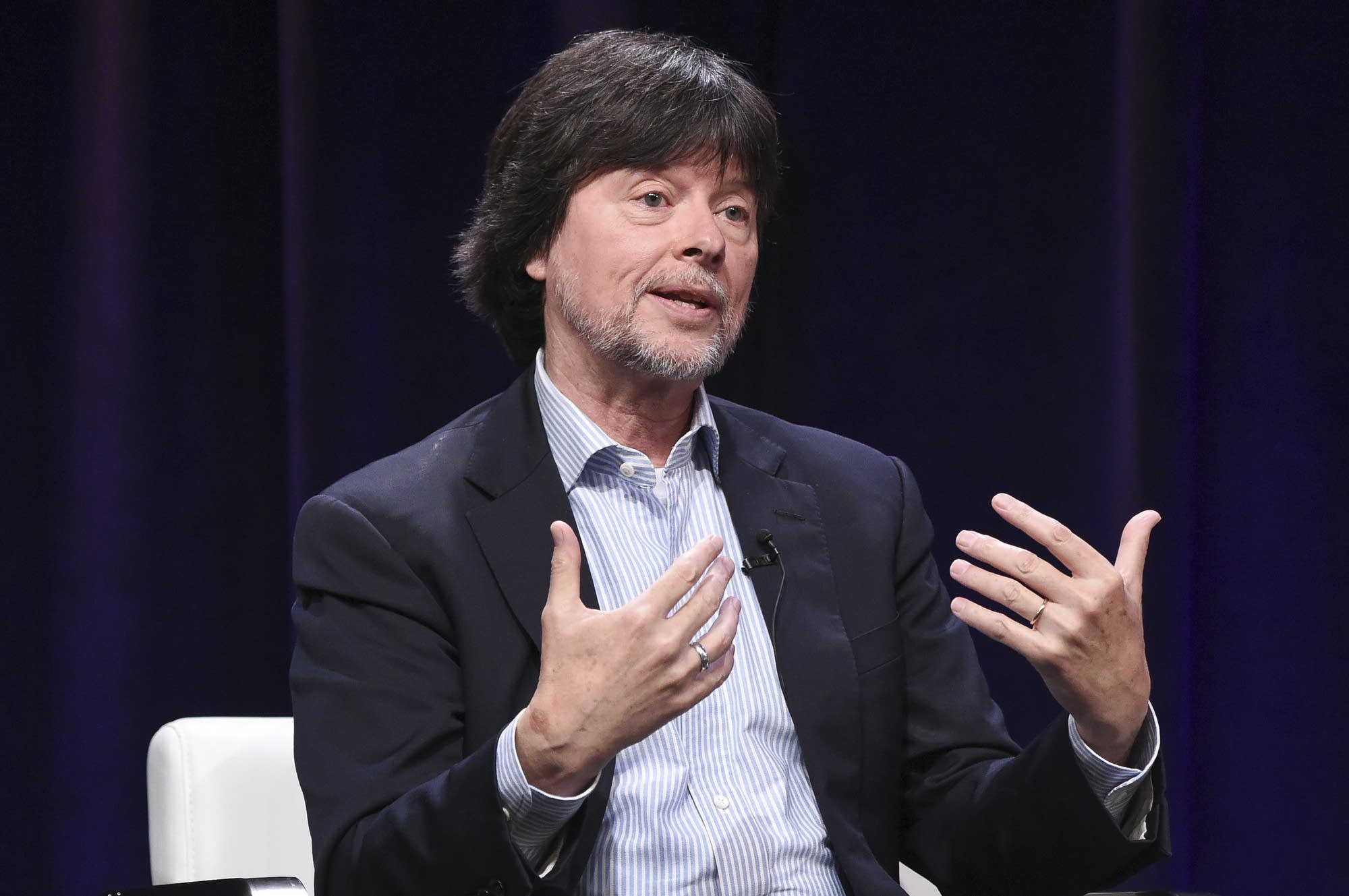 Ken Burns participates in a